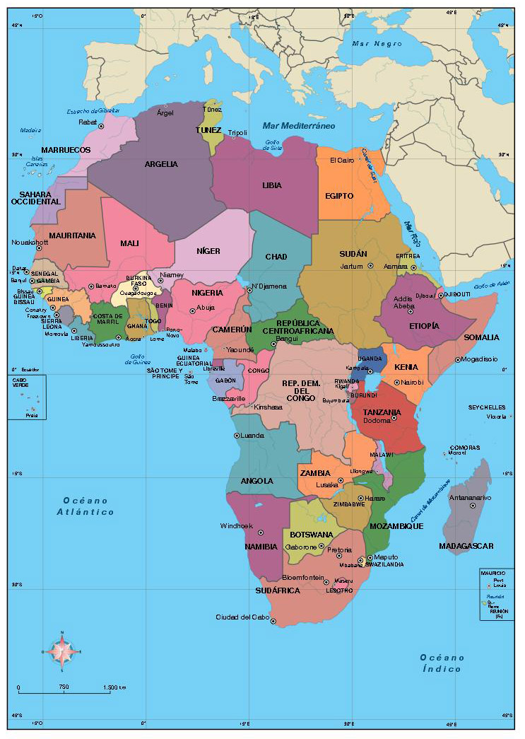 Africa Vector City Maps Eps Illustrator Freehand Corel Draw