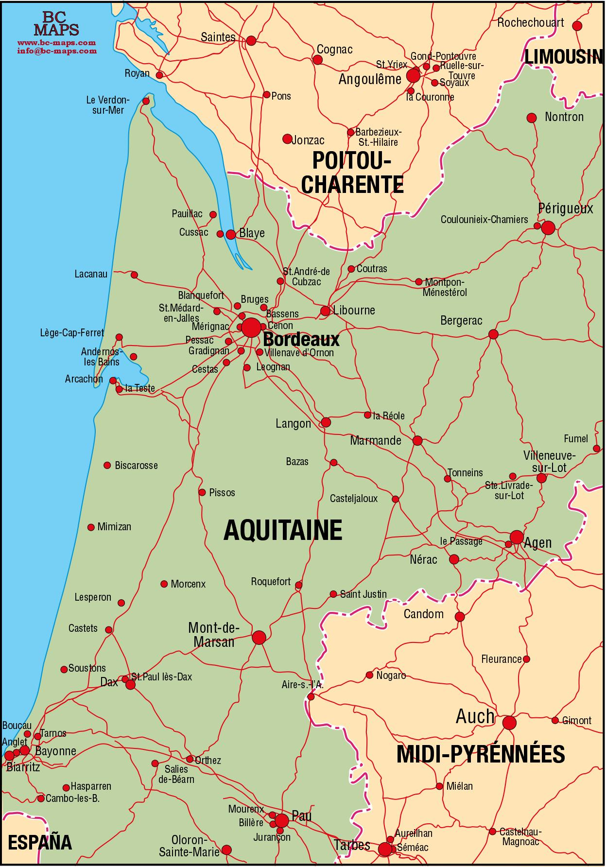 Aquitaine - Vector cit... Mexico Country Vector