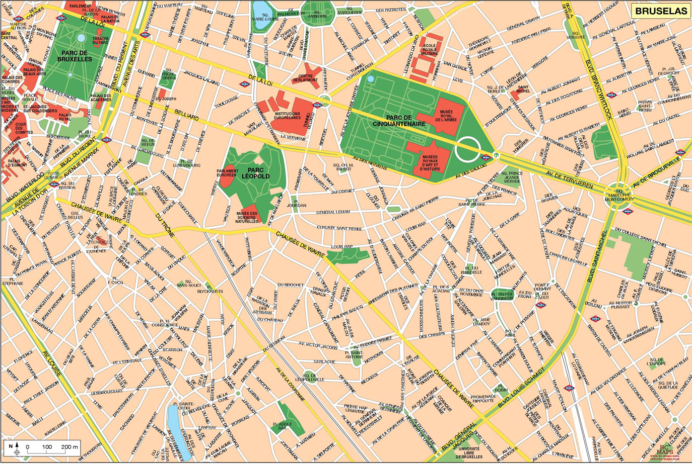Brussels Vector city maps eps illustrator freehand Corel draw