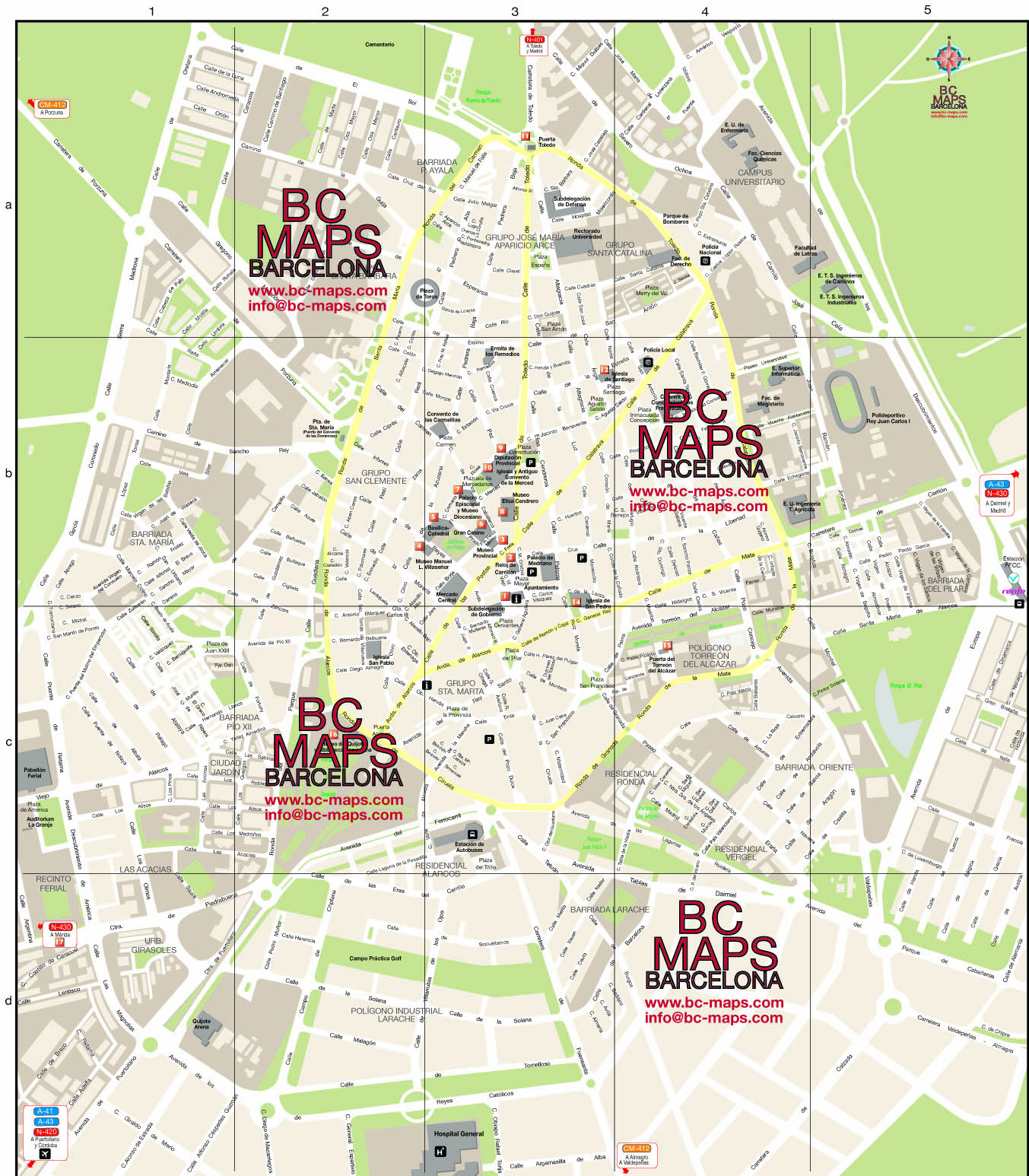 ciudad real   vector city maps eps illustrator freehand