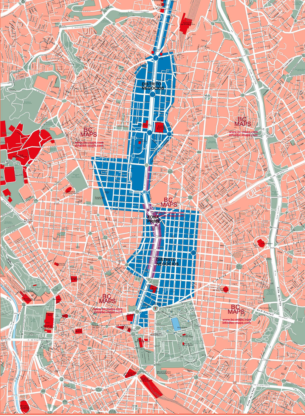 Madrid - Vector city maps, eps, illustrator, freehand, Corel draw ...