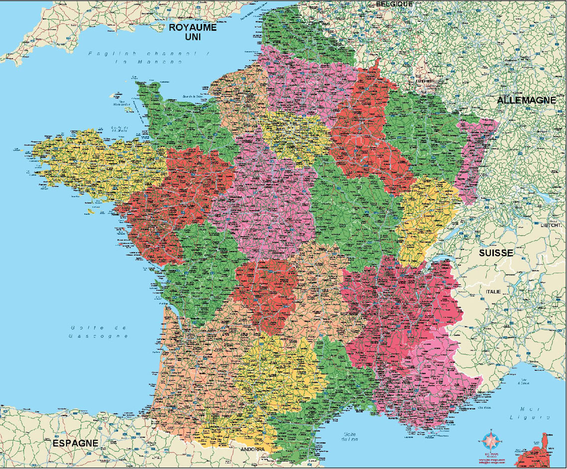 City Map Of France.France Vector City Maps Eps Illustrator Freehand Corel Draw