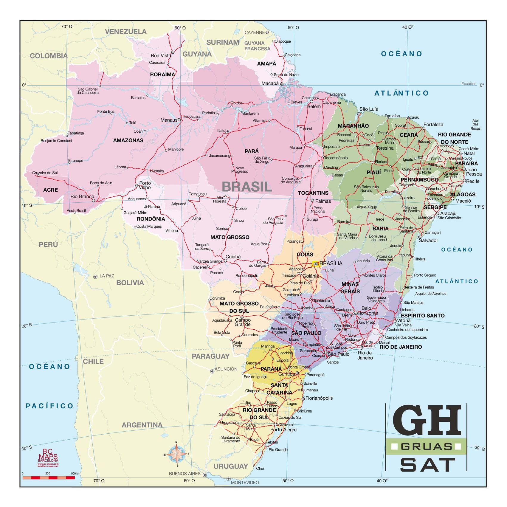 Brasil Vector City Maps Eps Illustrator Freehand Corel Draw