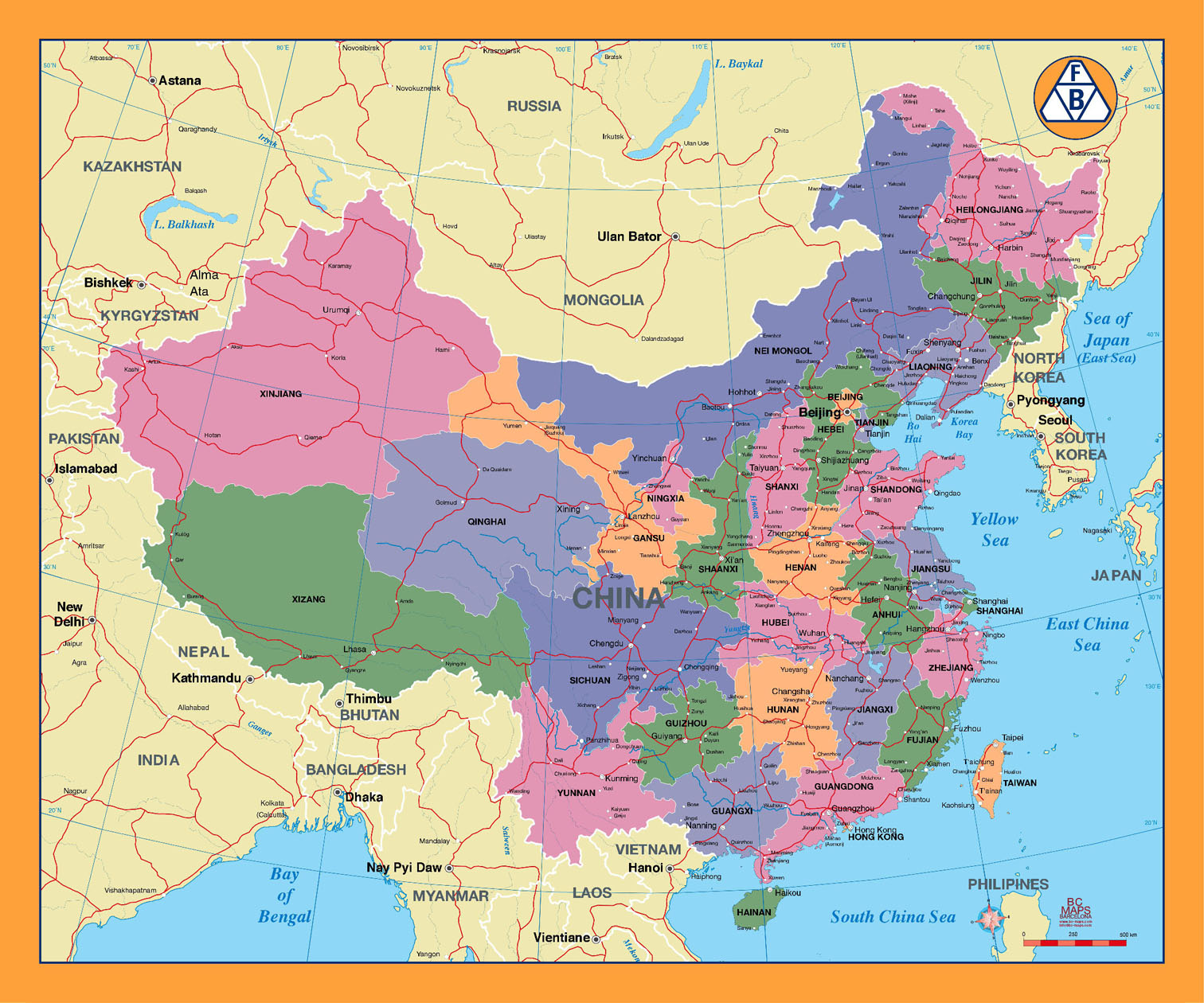 China   Vector city maps, eps, illustrator, freehand, Corel draw