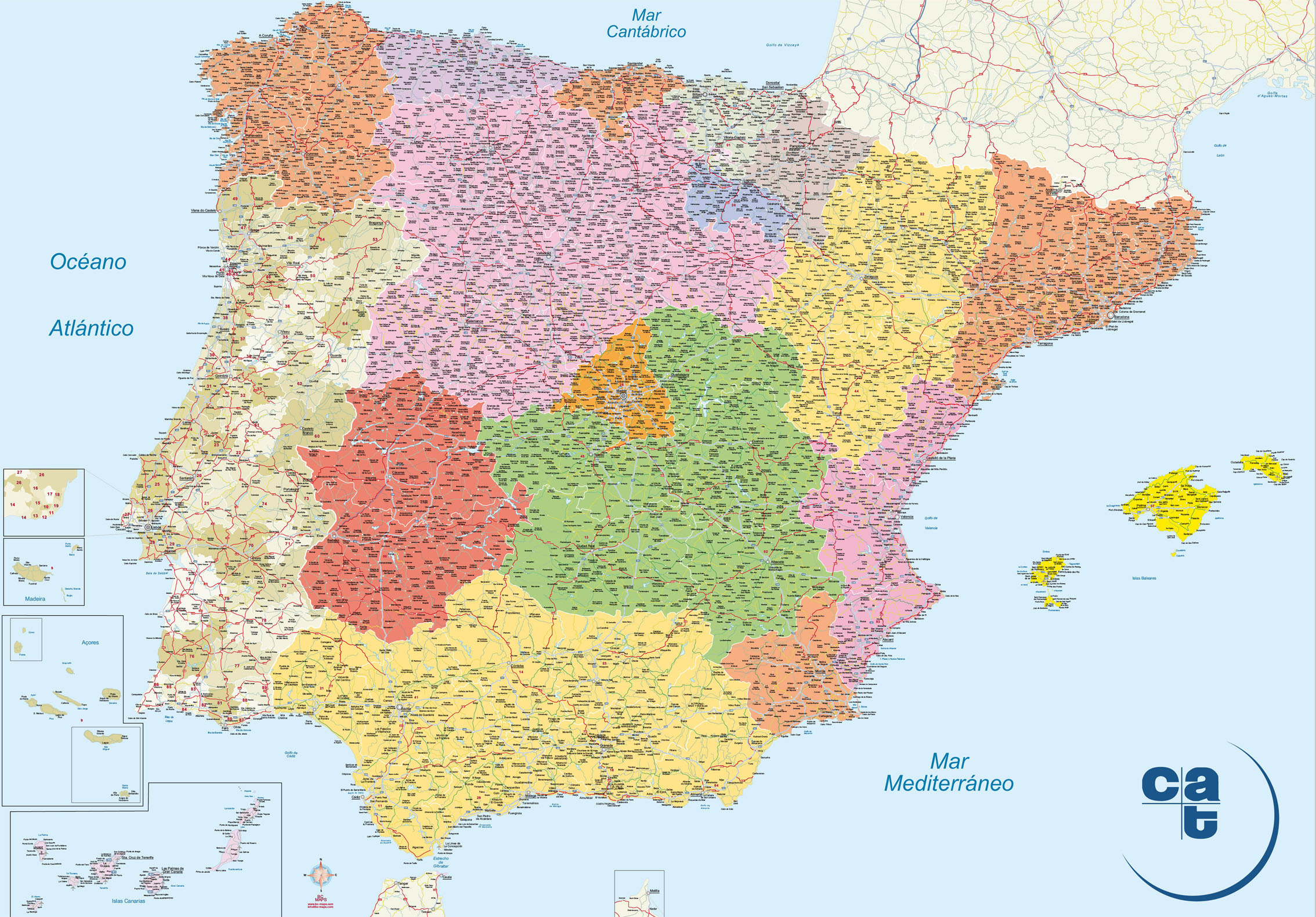 spain world map