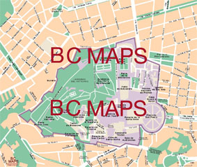 Vatican City - Vector city maps, eps, illustrator, freehand