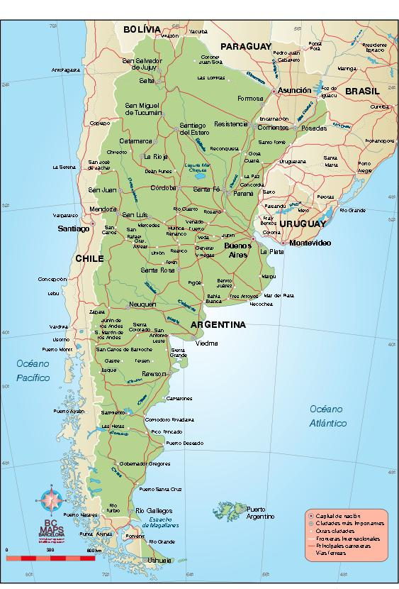 Argentina Vector City Maps Eps Illustrator Freehand Corel - Argentina cities map